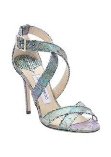 Jimmy Choo aloe mix holographic lace 'Lottie' stiletto sandals