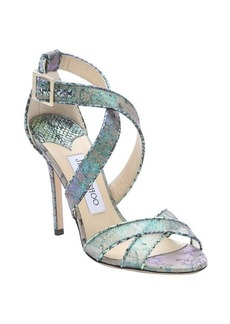 Jimmy Choo aloe mix holographic lace 'Lottie' stiletto sandals