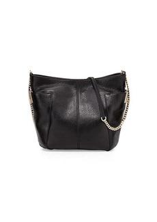 Jimmy Choo Anabel Leather Crossbody Bag, Black