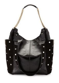 Jimmy Choo Anna Crinkled Leather Shoulder Bag