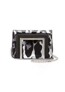 Jimmy Choo Ava Camoleo Printed Mirror Leather Crossbody Bag