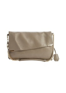 Jimmy Choo beige leather padlock-strap 'Ally' shoulder bag