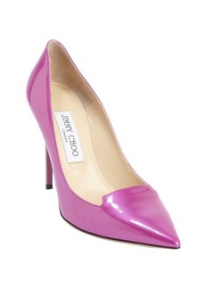 Jimmy Choo berry patent leather 'Avril' pointed toe pumps