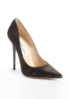Jimmy Choo black and amber shimmering canvas 'Anouk' pumps