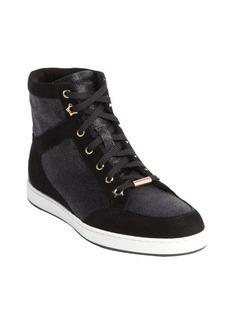 Jimmy Choo black and grey glitter 'Tokyo' sneakers