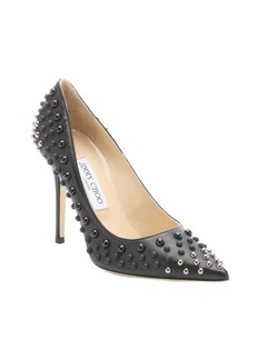 Jimmy Choo black and silver 'Abel' dome studded stiletto pumps