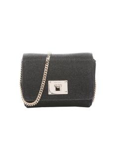 Jimmy Choo black lamé glitter 'Ruby' chainlink mini shoulder bag