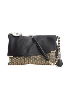 Jimmy Choo black leather 'Ally' shoulder bag