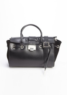 Jimmy Choo black leather and suede 'Rosa' tote