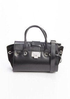 Jimmy Choo black leather and suede small 'Rosa' tote