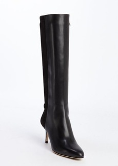 Jimmy Choo black leather and suede tall boots