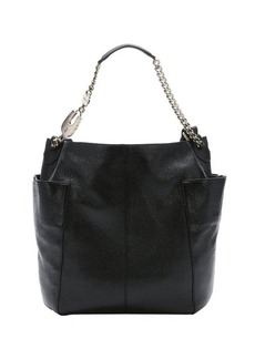 Jimmy Choo black leather 'Anna' convertible tote