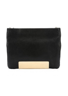 Jimmy Choo black leather 'Carrie' shoulder bag