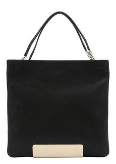 Jimmy Choo black leather 'Charlie' shoulder bag