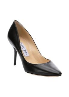 Jimmy Choo black leather 'Mei' stiletto pumps