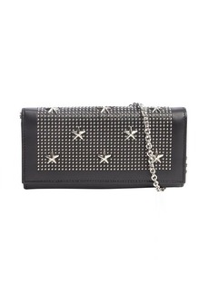 Jimmy Choo black leather 'Nikita' studded star detail convertible continental wallet
