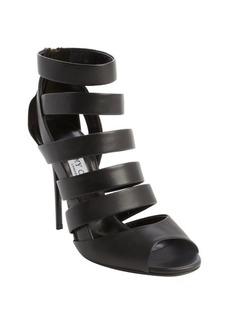 Jimmy Choo black leather open toe 'Damsen' sandals
