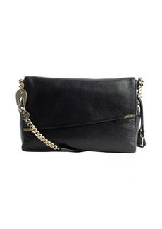 Jimmy Choo black leather padlock-strap 'Ally' shoulder bag