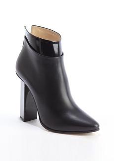 Jimmy Choo black leather polished ankle cuff 'Legion' heeled boots