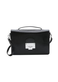 Jimmy Choo black leather 'Romy' convertible shoulder bag
