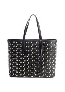 Jimmy Choo black leather 'Sasha' studded medium tote
