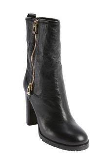 Jimmy Choo black leather side zip 'Dawson' boots