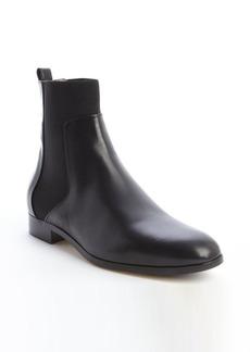 Jimmy Choo black leather slip on boots
