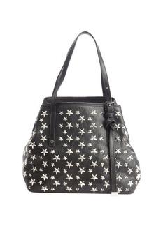 Jimmy Choo black leather star studded small 'Sasha' bag