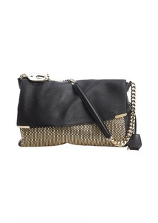 Jimmy Choo black leather studded 'Ally' shoulder bag