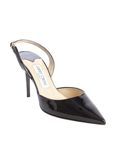 Jimmy Choo black leather 'Tilly' pointed toe sling back pumps