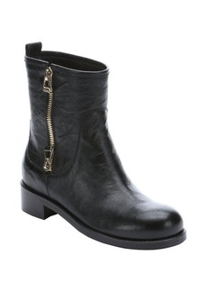 Jimmy Choo black leather zip detail 'Dondo' biker boots