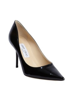 Jimmy Choo black patent leather 'Agnes' pointed toe pumps