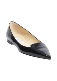 Jimmy Choo black patent leather 'Attila' ballet flats
