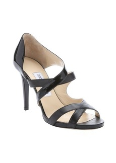 Jimmy Choo black patent leather 'Valance' strappy sandals