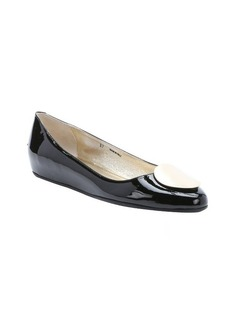 Jimmy Choo black patent leather 'Wray' ballet flats