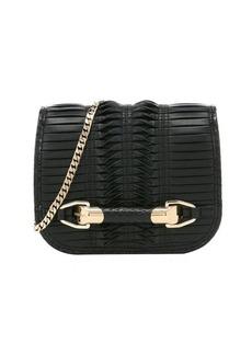 Jimmy Choo black pleated leather 'Zadie' small shoulder bag