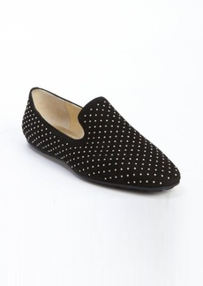 Jimmy Choo black silver stud suede '134 Wheel' loafers