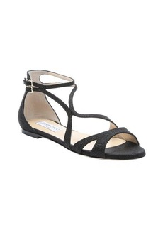 Jimmy Choo black spotted leather 'Hasty' flat sandals