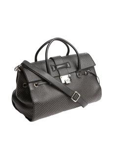 Jimmy Choo black studded leather 'Rosalie' convertible satchel