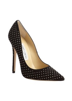 Jimmy Choo black studded suede 'Anouk' pumps