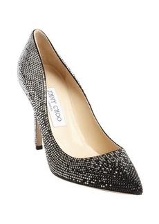 Jimmy Choo black suede crystal studded 'Tania' pumps