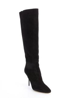 Jimmy Choo black suede 'Drape' knee high boots