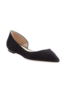 Jimmy Choo black suede pointed toe 'Walton' flats