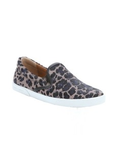Jimmy Choo blue and grey leopard printed calf hair 'Demi' slip-on sneakers