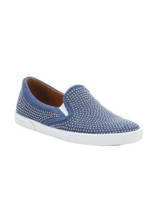 Jimmy Choo blue denim micro studded 'Demi' slip-on sneakers