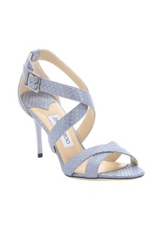 Jimmy Choo bluebell snake printed leather 'Louise' strappy sandals