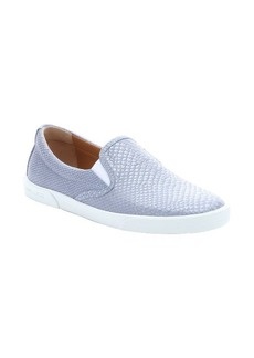 Jimmy Choo blueberry snake embossed leather 'Demi' slip-on sneakers