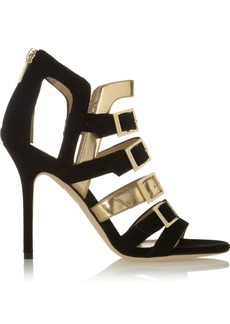 Jimmy Choo Bronx suede and metallic leather sandals