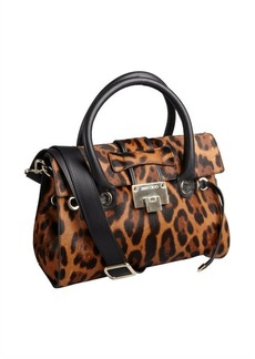 Jimmy Choo brown leopard print calf hair 'Rosalie' convertible satchel