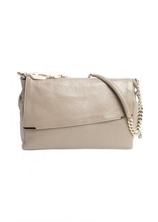 Jimmy Choo brown pebble leather padlock-strap 'Ally' shoulder bag